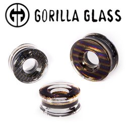 "Gorilla Glass Iridescent Eyelet Plugs 1"" to 3"" (Pair)"