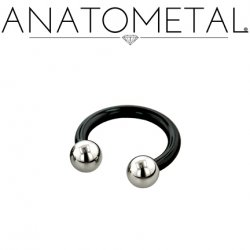 Anatometal Niobium Circular Barbell With Steel Ball Ends 10 Gauge 10g