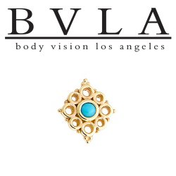 "BVLA 14kt Gold ""Angela"" Threadless End 18g 16g 14g ""Press-fit"""