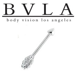 BVLA 14kt Gold Arrow William Tell Industrial Barbell 14 gauge 14g Body Vision Los Angeles