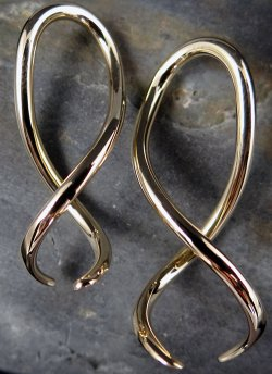 Little Seven Brass Spiral Twist Squid 14g 12g 10g 8g 6g (Pair)
