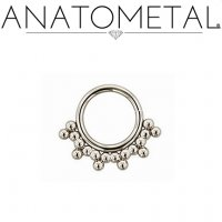 Anatometal 18kt Gold Seam Ring With Gold Sabrina Overlay 14 Gauge 14g
