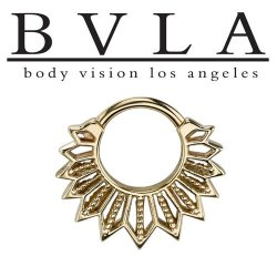 BVLA Starr 14kt Gold Septum Ring 14g Body Vision Los Angeles