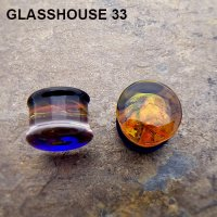 "Glasshouse 33 Angst Double Flare Plugs 3/4"" (Pair)"
