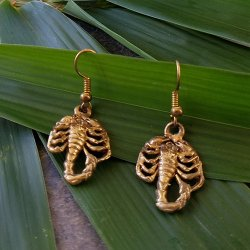 Pre-Columbian Design Bronze Scorpion Earrings (Pair)