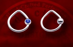 Body Circle Surgical Stainless Steel Triangle Teardrop Captive Bead Ball Closure Ring 14 Gauge 14g
