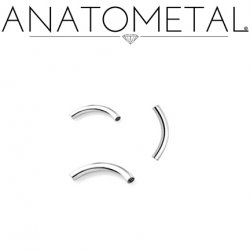 Anatometal Surgical Steel Internally Threaded Curved Barbell (Shaft Only, No Ends) 16g 14g 12g