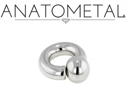 Anatometal Surgical Stainless Steel Screw on Ball Ring 4g 4 Gauge