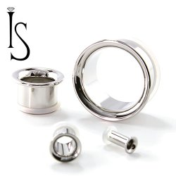 Industrial Strength Stainless Surgical Steel Single Flared Eyelets 8g through 2""