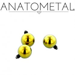 Anatometal Titanium Threaded Ball End 8 Gauge 8g