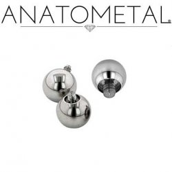Anatometal Surgical Steel Threaded Ball End 4 Gauge 4g