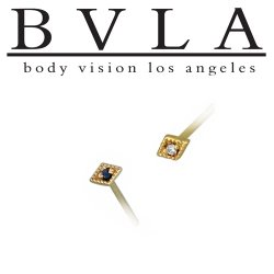 "BVLA 14kt Gold ""Harlequin"" Nostril Screw Nose Bone Ring Stud Nail 20g 18g 16g Body Vision Los Angeles"