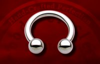 "Body Circle Surgical Stainless Steel 7/16"" Circular Horseshoe Barbell 8 Gauge 8g Sale!"