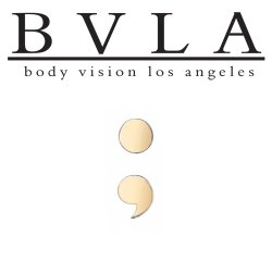 "BVLA 14Kt Gold ""Semicolon"" Threaded End Dermal Top 18g 16g 14g 12g Body Vision Los Angeles"
