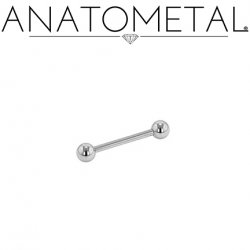 Anatometal Surgical Stainless Steel Straight Barbell 16 Gauge 16g