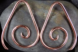 Little Seven Copper Tear Spiral 12g 10g 8g 6g 4g (Pair)