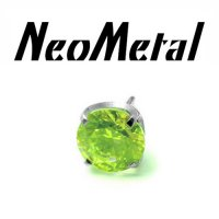 "18 Gauge 18g NeoMetal Threadless Titanium Prong-Set Gem 5.0mm ""Press-fit"""