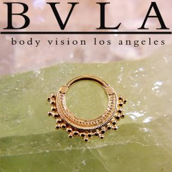 "BVLA 14kt Gold ""Afghan"" Septum Clicker Nose Ring 16 Gauge 16g Body Vision Los Angeles"