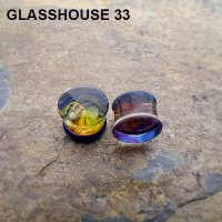 "Glasshouse 33 Angst Double Flare Plugs 9/16"" (Pair)"