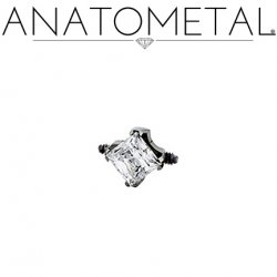 Anatometal Titanium Double Threaded Princess End Orbit 18 Gauge 16 Gauge 14 Gauge 12 Gauge 18g 16g 14g 12g