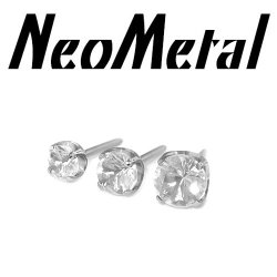 "18 Gauge 18g NeoMetal Threadless Titanium Prong-Set Genuine Diamond End 1.5mm, 2mm, 2.5mm ""Press-fit"""