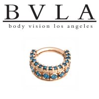 "BVLA 14kt Gold ""Tiara"" Nose Nostril Septum Ring 14 Gauge 14g Body Vision Los Angeles"