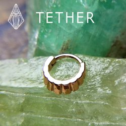 "Tether Jewelry Stainless Steel ""Naica"" Clicker 14 Gauge 14g"