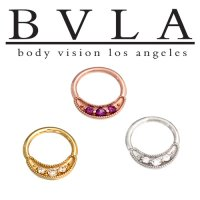 "BVLA 14kt Gold ""Lacey\"" Nose Nostril Septum Ring 18g Body Vision Los Angeles"