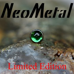 "18 Gauge 18g NeoMetal Limited Ed. Threadless Titanium Bezel 2.0mm Cabochon Emerald Gem End ""Press-fit"""