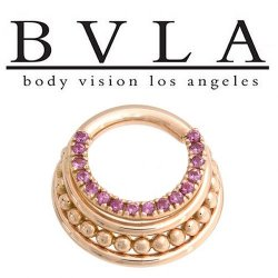 BVLA Brit 14kt Gold Septum Ring Clicker 14g Body Vision Los Angeles