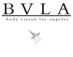 BVLA 14kt Gold 4.5mm Medium Flat Star Nostril Screw Nose Bone Nail Stud 20g 18g 16g Body Vision Los Angeles