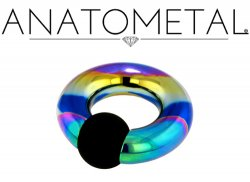 Anatometal Titanium Rubber Ball Captive Bead Ring 0g