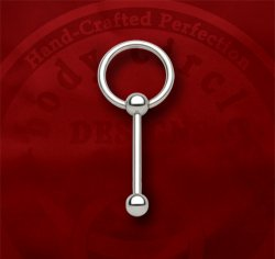 Body Circle Surgical Stainless Steel Slave Barbell Captive Bead Ball Closure Tongue Ring 10g 10 Gauge