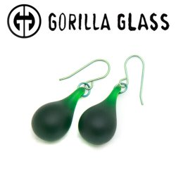 Gorilla Glass Simple Velvet Earrings (Pair)