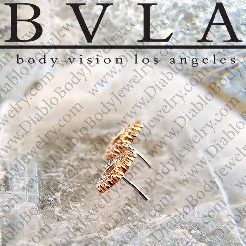 "BVLA 14Kt Gold ""Afghan"" Threadless End 18g 16g 14g ""Press-fit"" - Click Image to Close"