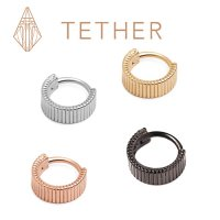 "Tether Jewelry Stainless Steel ""Eclipso"" Clicker 14 Gauge 14g"