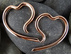 Little Seven Copper Heart Erosica 12g 10g 8g 6g 4g (Pair)