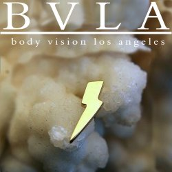"BVLA 14kt Gold 8.5mm ""Lightning Bolt"" Nostril Screw Nose Bone Ring Nail Stud 20g 18g 16g Body Vision Los Angeles"