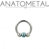 Anatometal Titanium Circular Barbell with Captive Bead 12 Gauge 12g