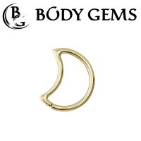 Body Gems 14kt Gold LunEar Daith Ring 16 Gauge 14 Gauge 16g 14g
