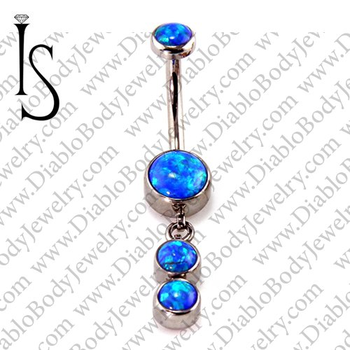 Industrial Strength Titanium Navel Curve Barbell Belly Button Ring
