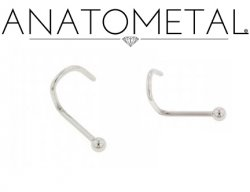 Anatometal Surgical Stainless Steel Ball Nostril Screw Nose Ring Nail 20 gauge 18 Gauge 20g 18g