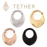 "Tether Jewelry Stainless Steel ""Drake Hoop\"" Clicker Ear Weight Hinged Ring 8 Gauge 8g"