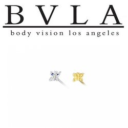 BVLA 14kt Yellow White Rose Gold Butterfly Nostril Screw Nose Bone Ring Stud Nail 20g 18g 16g Body Vision Los Angeles