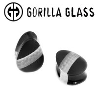 "Gorilla Glass Hybrid Teardrop Plugs 1/2"" Gauge to 2"" (Pair)"