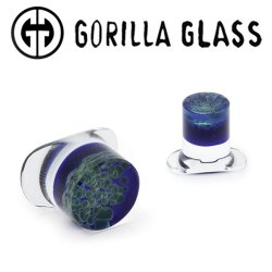 Gorilla Glass Zoa Labrets 0 Gauge to 1""