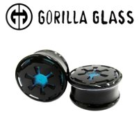 "Gorilla Glass Double Flare Imperial Plugs 1/2"" to 2"" (Pair)"