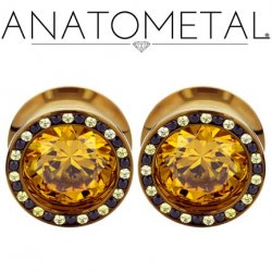 Anatometal Titanium Super Multi Gem Bling Eyelets 2g to 7/8""