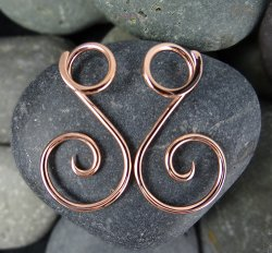 Little Seven Copper Ansari Spiral 12g 10g 8g 6g 4g (Pair)