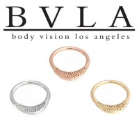 "BVLA 14kt Gold ""Janna"" Pave Texture Septum Seam Ring 18g Body Vision Los Angeles"